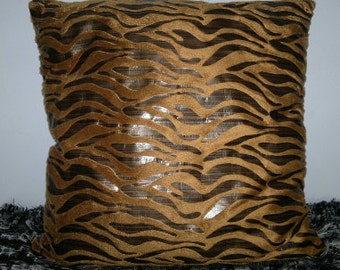 SALE Pillow Cover Brown Decorative Throw Pillow Cover 16x16