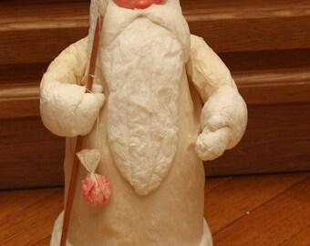 Vintage Soviet Russian souvenir Ded Moroz Father Frost Santa Claus Russian papier-mache cotton wool