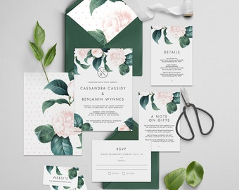 "Printable Wedding Invitation Suite ""The Dutchess"" - Printable DIY Invite, Affordable Wedding Invitation"