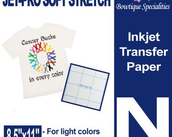 Neenah Jetpro SofStretch transfer paper  Light transfer paper  Iron on paper