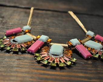 Chunky Geometric Collar Necklace