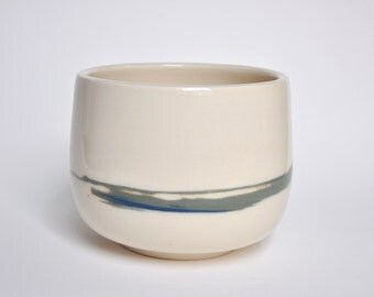 Marble Porcelain Planter Pot - Blue/Green