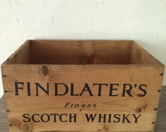 Vintage Findlater's Scotch Whiskey Box / Crate