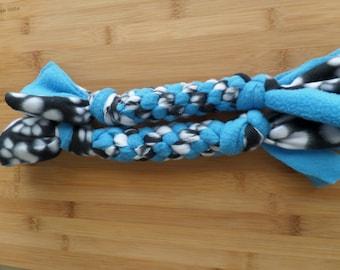 Blue and Black Paw Print Fleece Big Dog Tug Toy