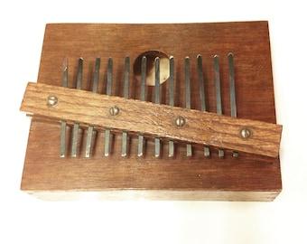 Primitive Mbira Handmade Thumb Piano Rustic Instrument Decor