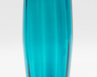 Large Blue Hand Blown Glass vase