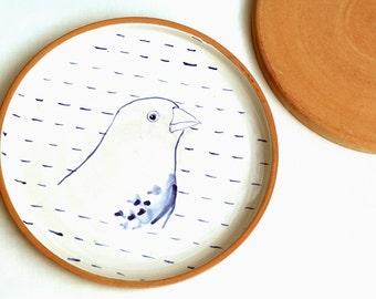 Plate blue chaffinch