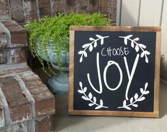 Choose Joy wood sign 13x13