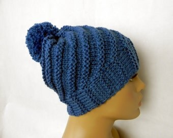 BEANIE * BOBBLE Hat * Cap * SLOUCH * 2 in 1 * wool * handmade