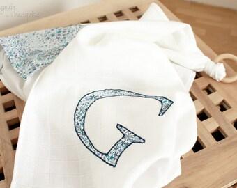 Diapers - cotton maxi organic - teething ring - wood - customize