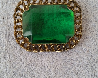 Vintage Green Brooch