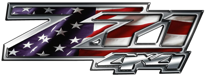 2 Chevrolet z71 decals stickers 13x4.5 inch custom