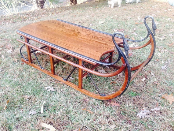 items similar to tell city chair company sled coffee table on etsy