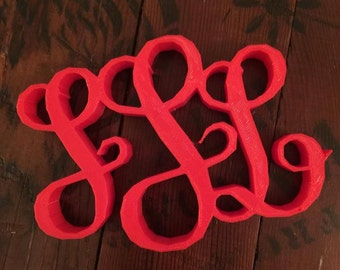 3D Printed Custom Monogram // Wedding Decor // Gift Idea // Home Decor