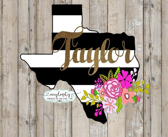 black white and gold texas decal texas yeti decal by vinylosityco
