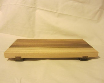 Wooden sushi tray