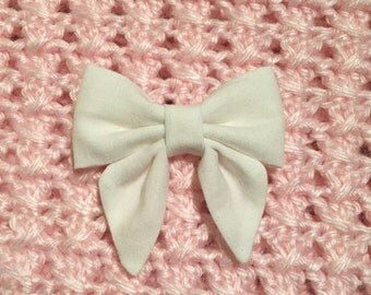 Small white sailor bow