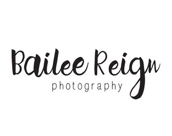 Photography logo / premade logo photography / calligraphy logo design / premade logo boutique / premade design business logo branding