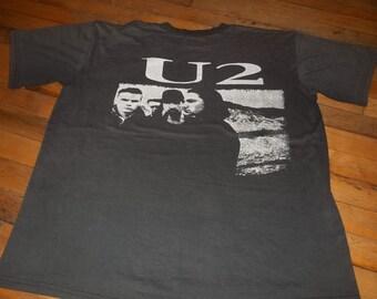 Large Vintage 1987 U2 JoSHUA TREe Pop Rock Concert tour 80s Super soft Thin band  t shirt