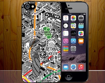 I Love London Retro Classical City Typography Art Clip Phone Case Cover Z542