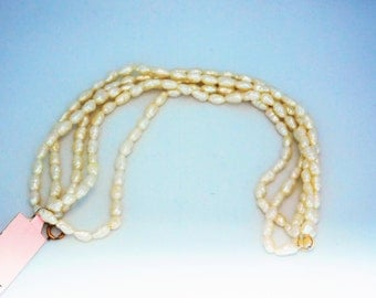 Pearl Bracelet With 14K Gold Clasp