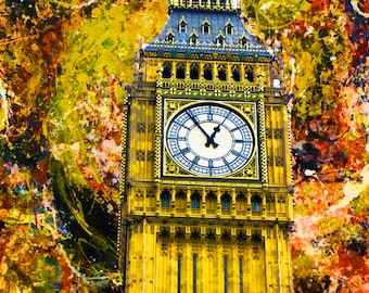 Big Ben in Abstract