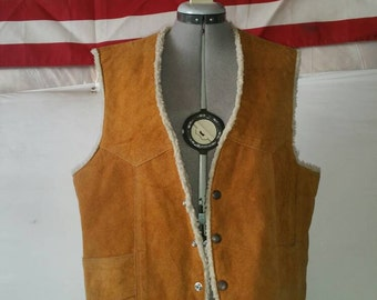 Leather and cotton vest