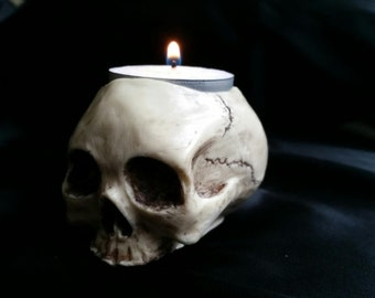 Skull Tea Light Candle Holder