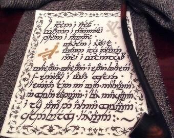 Custom Elvish Handwriting