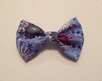 Patriotic fireworks bow