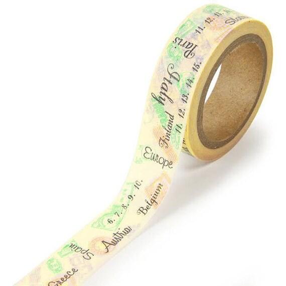 Viajes sello Washi Tape  cinta de Washi Tape  por ASCsupplies