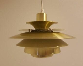 Brass Danish pendant by JEKA in Poul Henningsen style