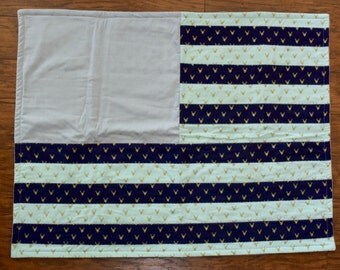 American Flag inspired Baby Blanket