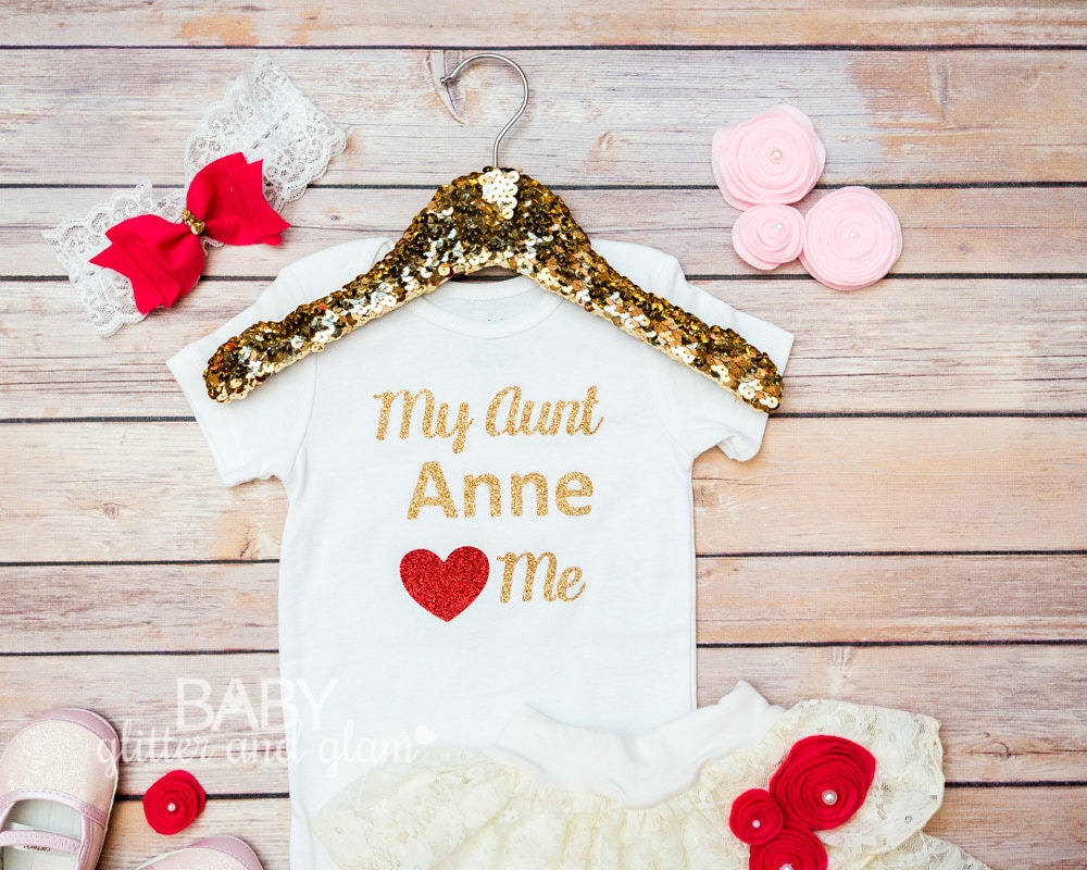 Baby Gifts From Great Aunt : Aunt baby girl shirt my loves me shower gift