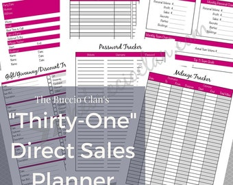 Thirty One Planner - Thirty One Direct Sales Planner - A5 - Home Business - Direct Sales - Small Business - Printable Planner - Work at Home