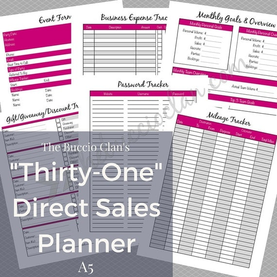thirty one planner thirty one direct sales planner a5