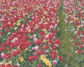 Tulips Cross Stitch Pattern