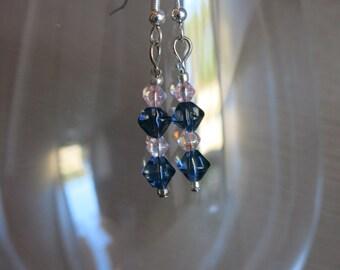 Blue & Pink Earrings