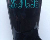 Initial boot decal, rain bppt decal, initial decal