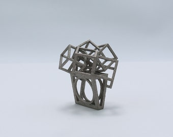 Zicube ring,3d print ring,Architectural jewelry,Wearable architecture,Architectural ring,3d printed ring,3dprint jewelry,Geometric Ring