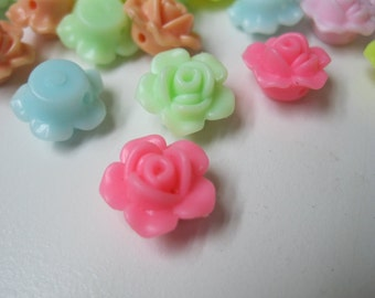 SALE 25% OFF My ENTIRE Shop! Resin Flower Beads (25pc)