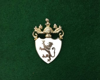 """Women's Jewelry Brooches, Jewelry, Vintage Jewelry, Brooch, Brooches, Vintage Brooches, """"Coat of Arms,"""" Lion Brooches"""
