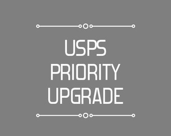 USPS Priority Mail Upgrade (1-3 Business Days)