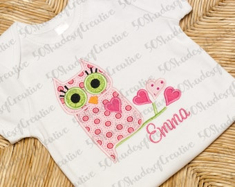 Sweetheart Owl Applique Design