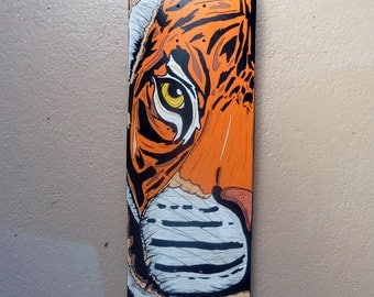 Tiger Skateboard deck (Illustration)