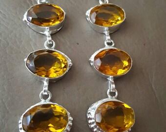 Citrine earrings- dangle-pierced!
