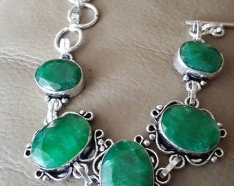 Emerald Bracelet- 7.5 inches!