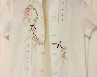 asian needlework vintage top