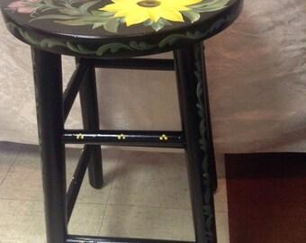 Hand painted Sunflower stool