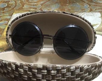New Vintage Retro Men Women Round Metal Frame Sunglasses Glasses Shades